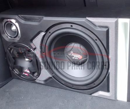 Caja acústica de tres productos