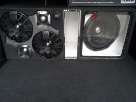 Caja acústica sonido de carro tipo turbo con acrílico