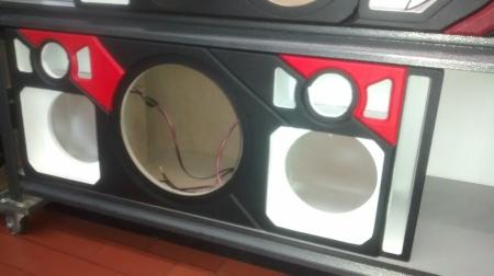 cajones acústicos de sonido para carro
